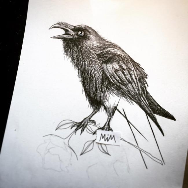 Drawn raven key Designs Raven Tattoo Inspiring Meaning