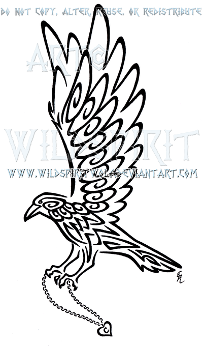 Drawn raven knotwork By Knotwork DeviantArt by on