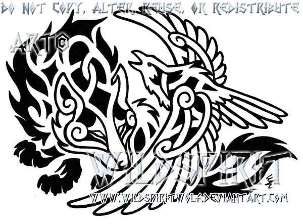 Drawn raven knotwork Deviantart Raven's on WildSpiritWolf com