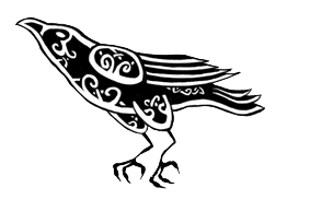 Drawn raven knotwork Deviantart Celtic on Herla SCA