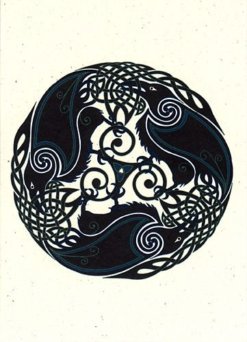 Drawn raven knotwork On Find on Pinterest and