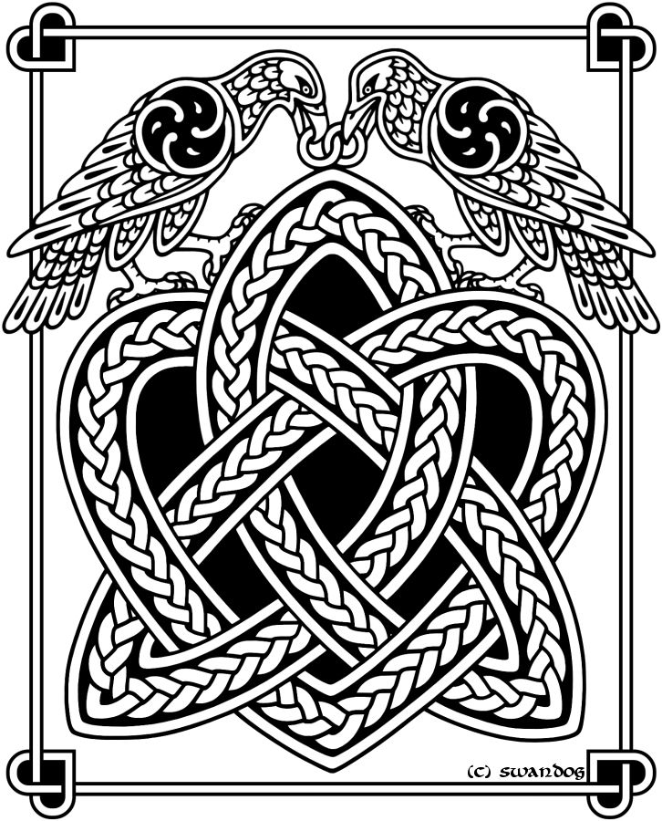 Drawn raven knotwork On Find and best Pinterest