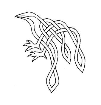 Drawn raven knotwork Knotwork Knotwork  bolero bolero