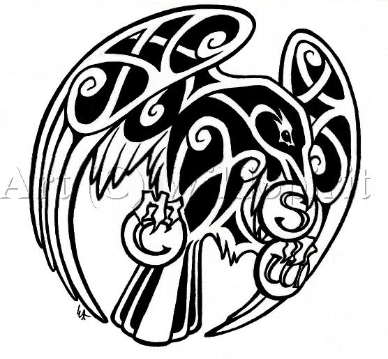 Drawn raven knotwork *WildSpiritWolf Celtic  *WildSpiritWolf deviantART