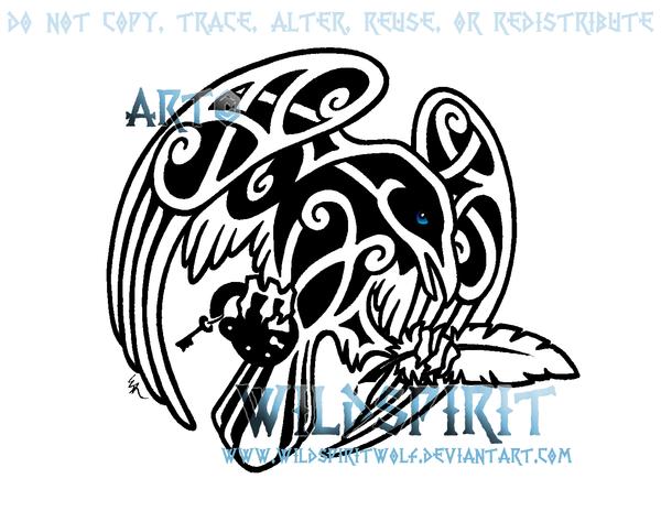 Drawn raven knotwork WildSpiritWolf Knotwork DeviantArt Quill And