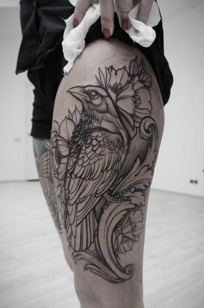 Drawn raven leg Pinterest tattoo this 20+ Best