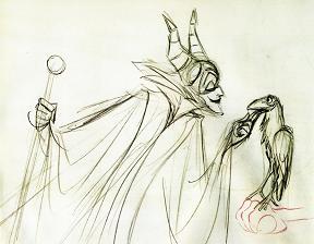 Drawn raven maleficent Mattinson talk raven speaking Beauty's