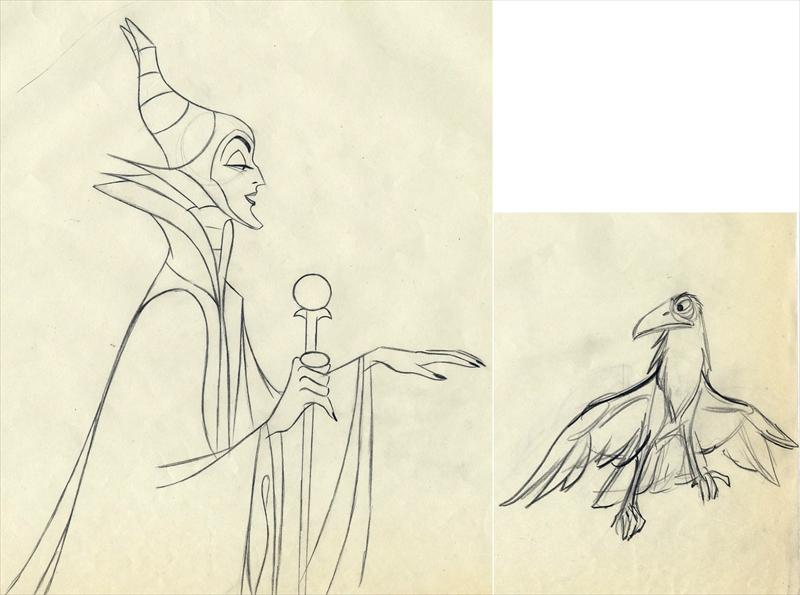 Drawn raven maleficent Disney Davis SLEEPING Marc 2
