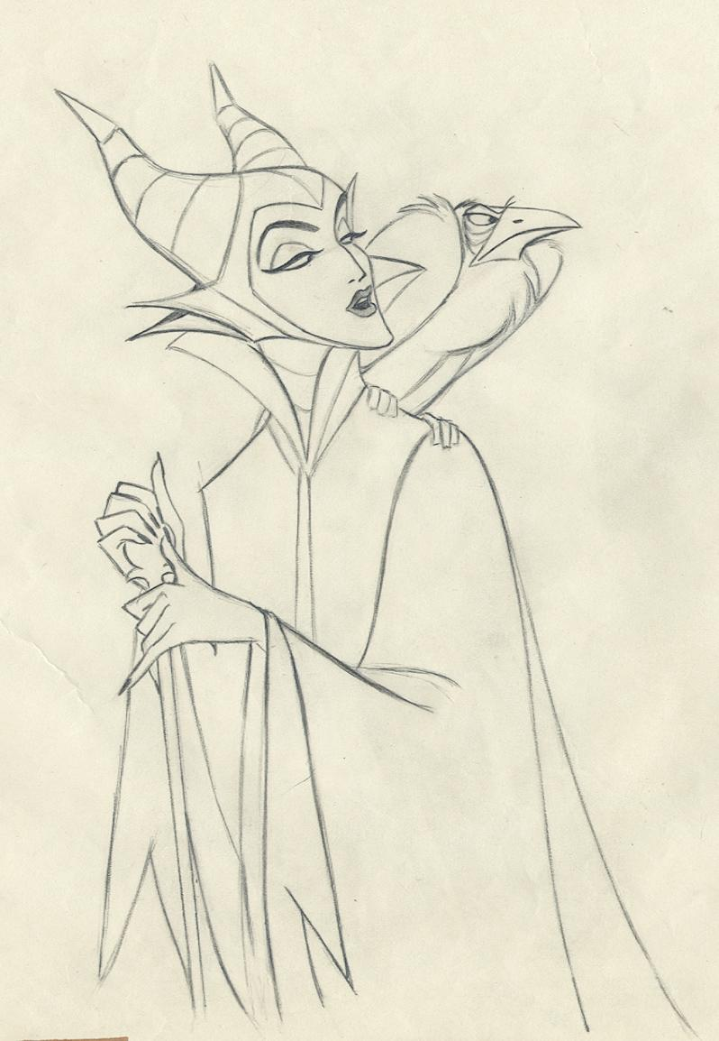 Drawn raven maleficent SLEEPING  BEAUTY Drawing Disney