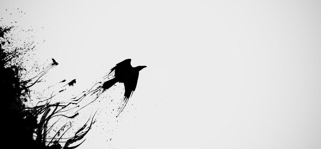 Drawn raven minimalist By on Epicmetal Raven by