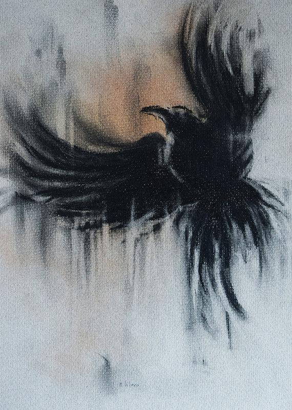 Drawn raven minimalist And White Minimalist Flying White