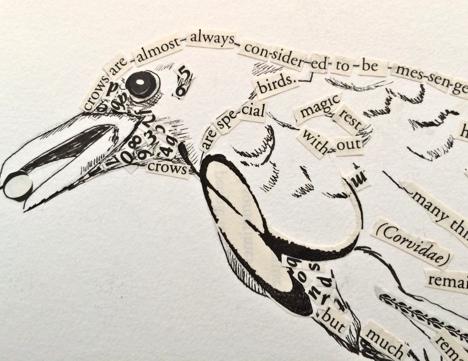 Drawn raven minimalist On see raven) Collage the