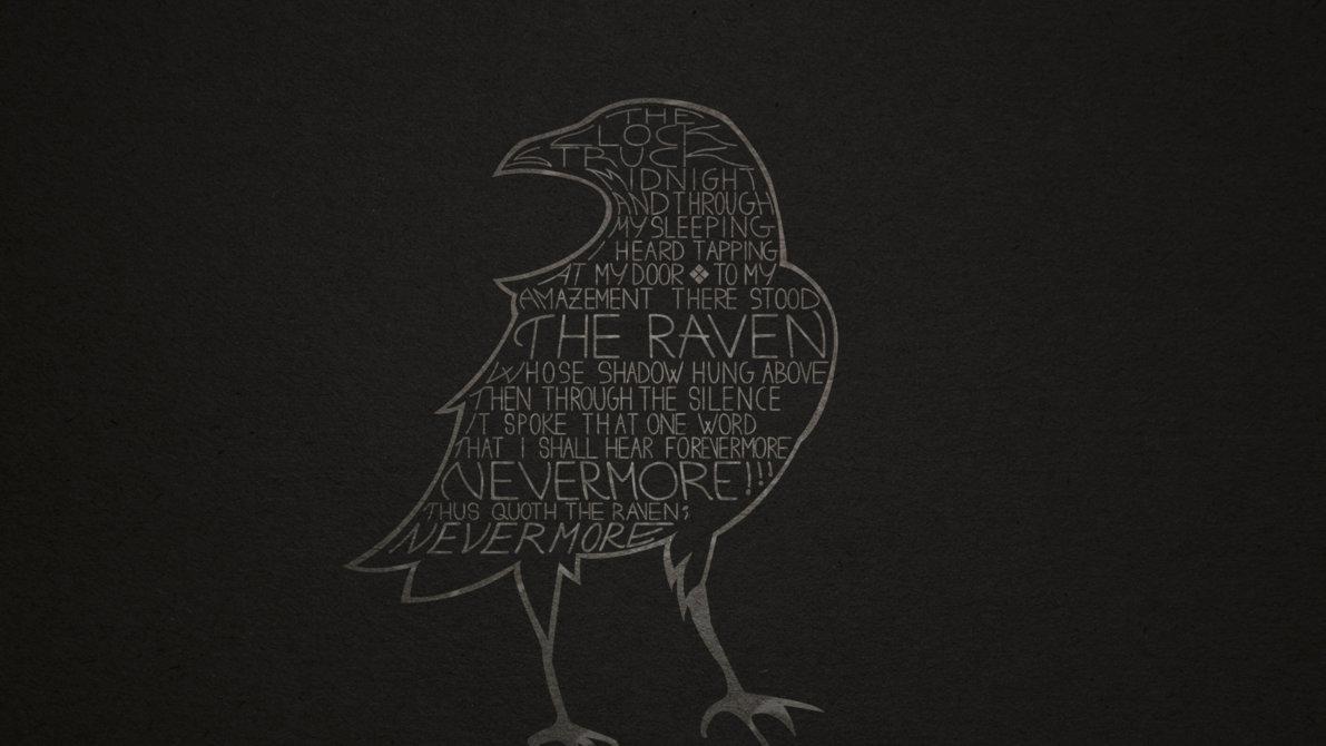 Drawn raven minimalist Banime quoth Thus banime by