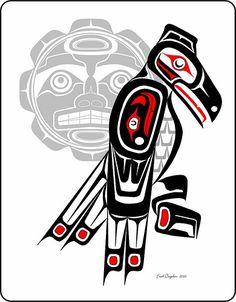 Drawn raven moon Pinterest Heron Haida Art Haida