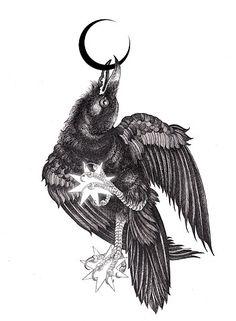 Drawn raven moon  Raven Beaudry Clock deviantART