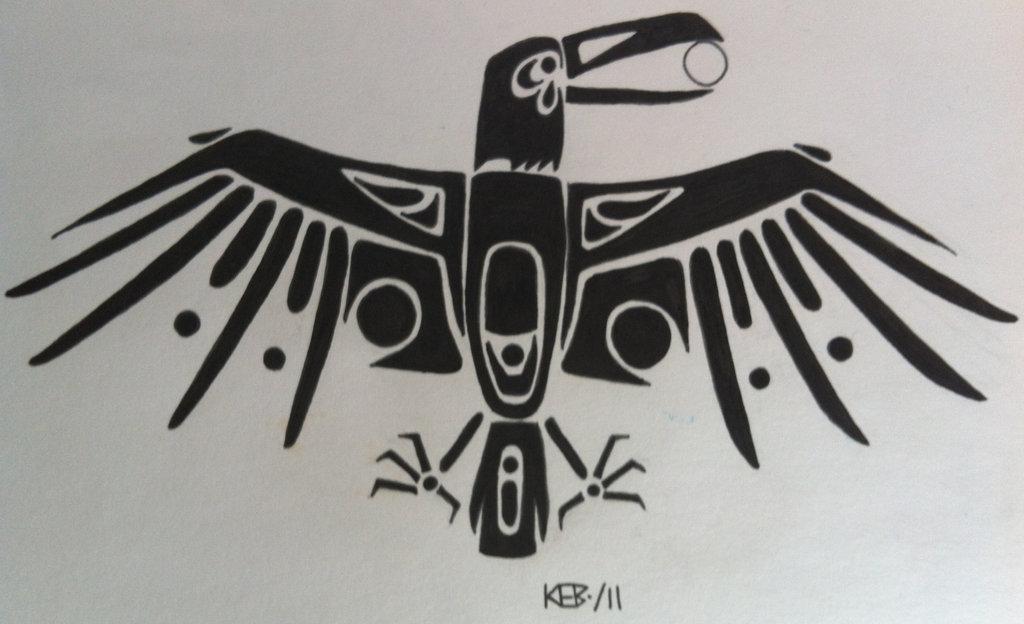 Drawn raven native american American modestmonster Native DeviantArt by