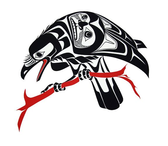 Drawn raven native american Native symbol  native Search