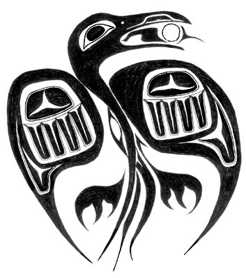 Drawn raven native american CROWS 711 RAVENS AND Find