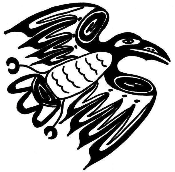 Drawn raven native american A Raven  Sun Layers