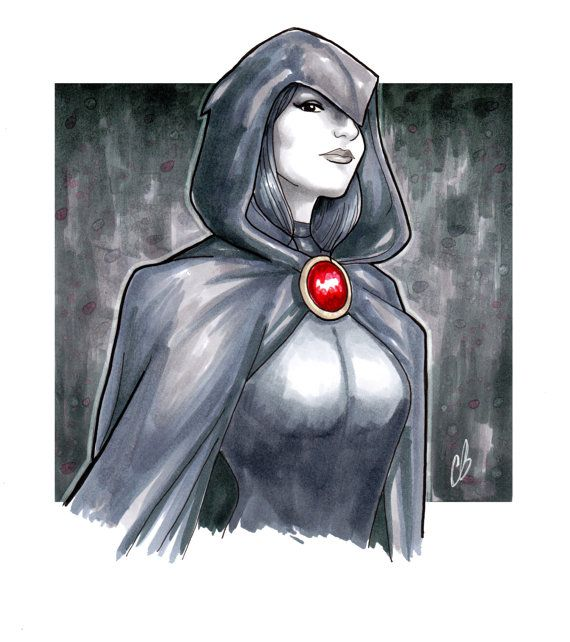 Drawn raven pencil drawing Copic  11 and 8