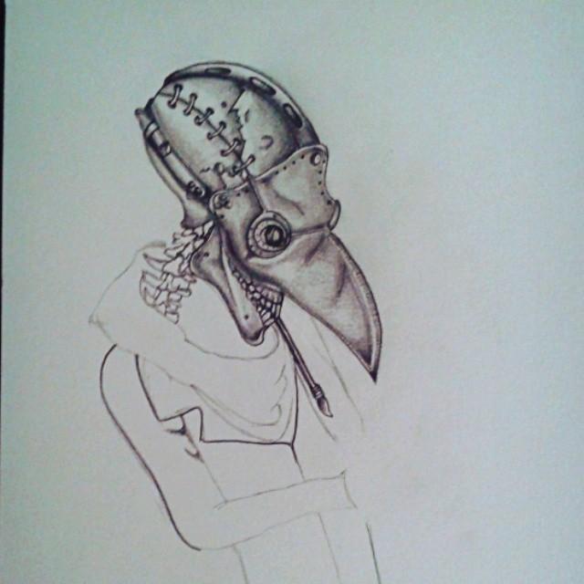 Drawn raven pencil drawing #draw In #sketch #dark on