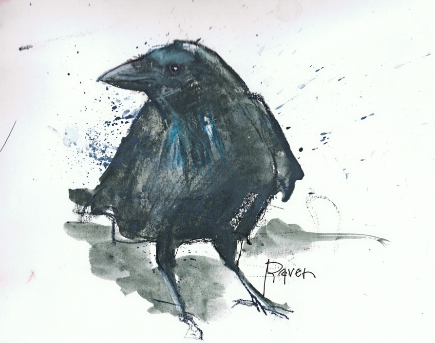 Drawn raven poem drawing My draw Sometimes pages into