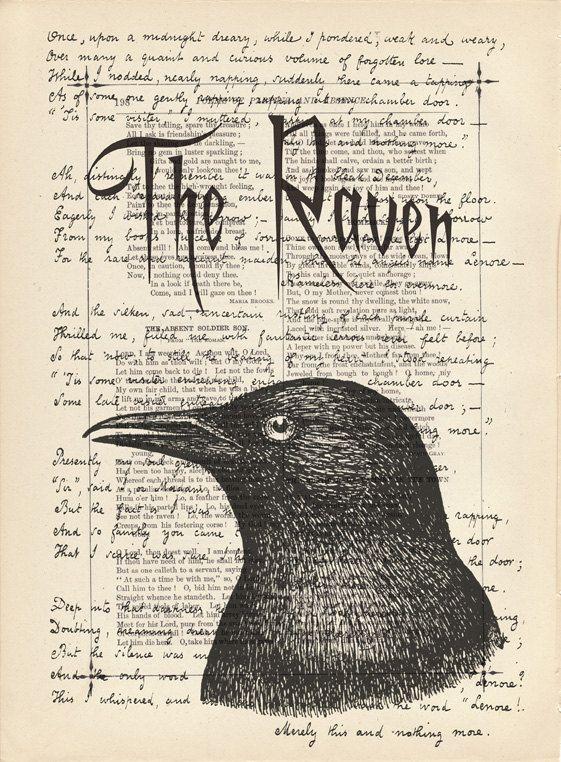 Drawn raven poem drawing Allan Edgar (poem) admit images