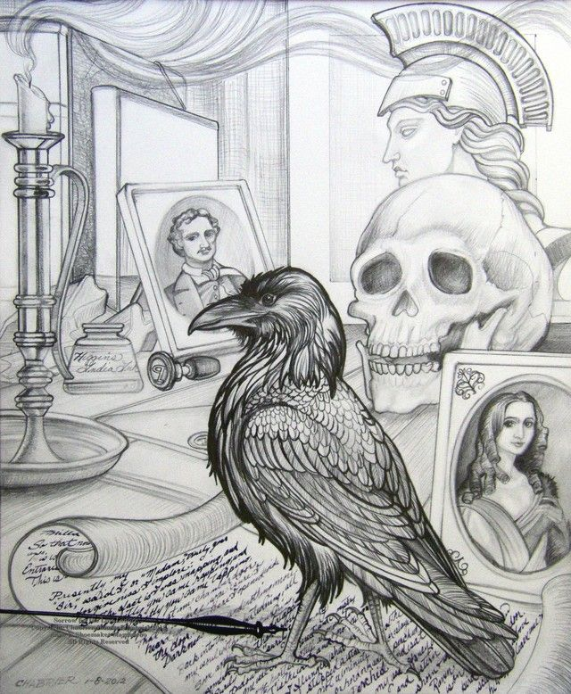 Drawn raven poem drawing Lenore Best 5  attitude