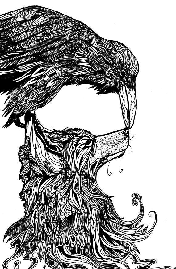 Drawn raven quality Of Tattoo 10 will Fox
