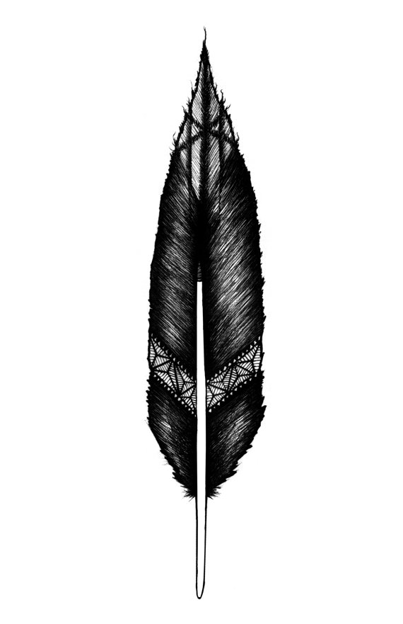 Drawn raven raven feather Photo Drawing of Drawing Gallery