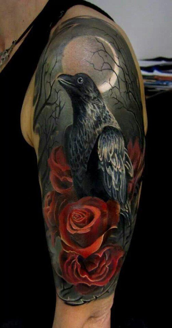 Drawn raven rose Tattoos Tattoos Dark Raven 60+