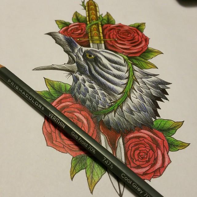 Drawn raven rose Inspiring & All 75+ Raven
