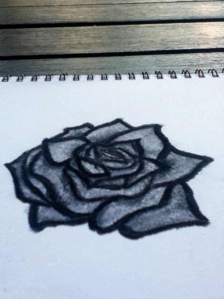Drawn raven rose Rose Hand Raven Drawn Black