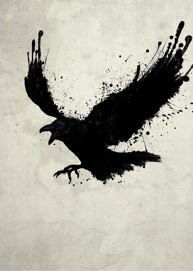 Drawn raven shadow Gustafsson Digital Digital Raven Nicklas