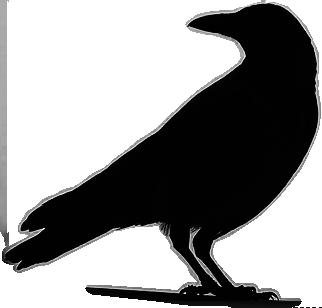 Drawn raven silhouette Bats raven Crows Silhouette Standing