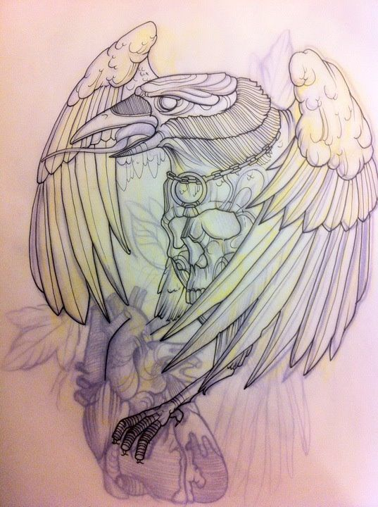 Drawn raven sketch Designs 901 church uni images