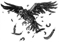 Drawn raven sketch On crow raven  Comission: