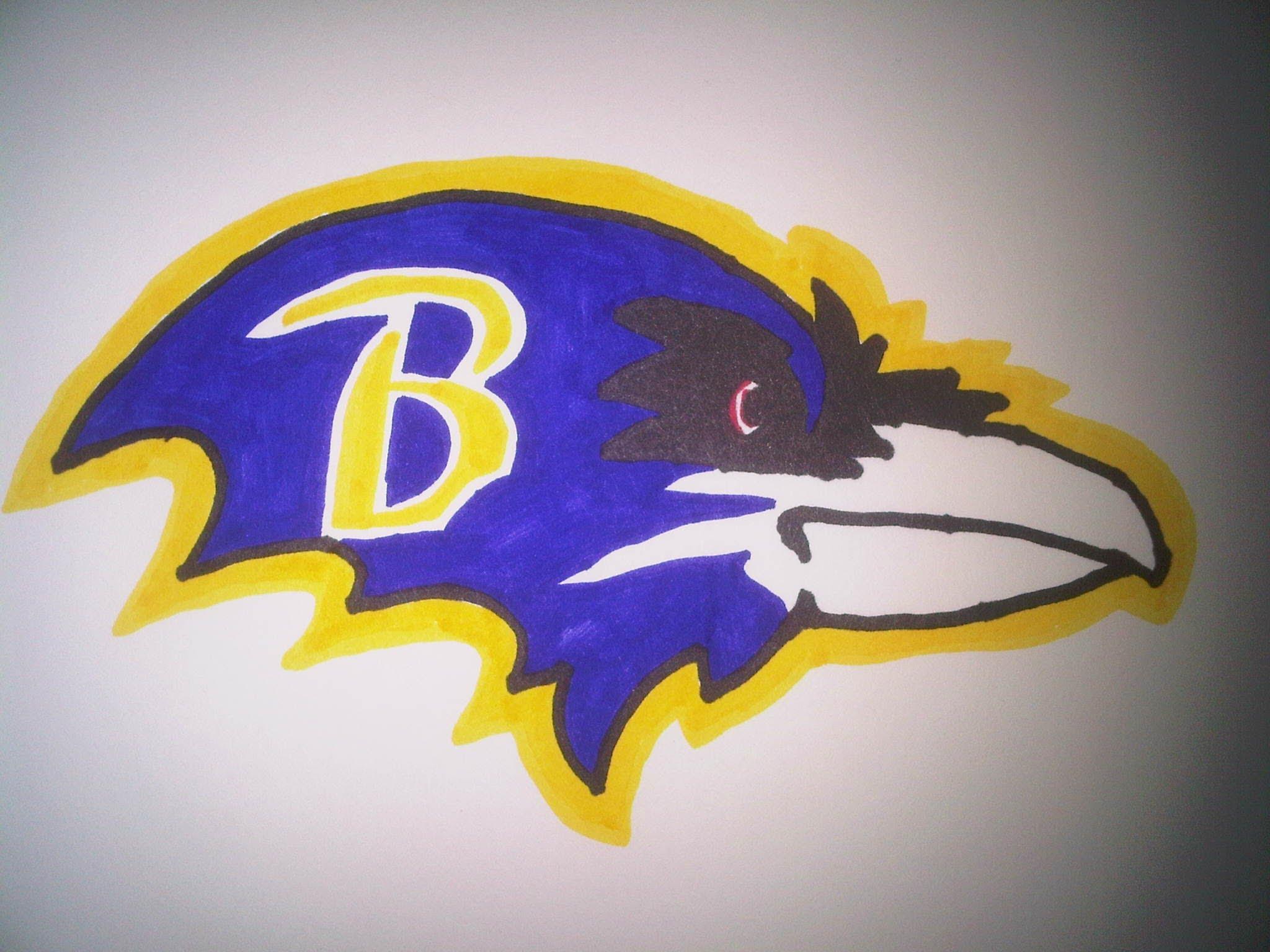 Drawn raven sketch Baltimore YouTube  to logo
