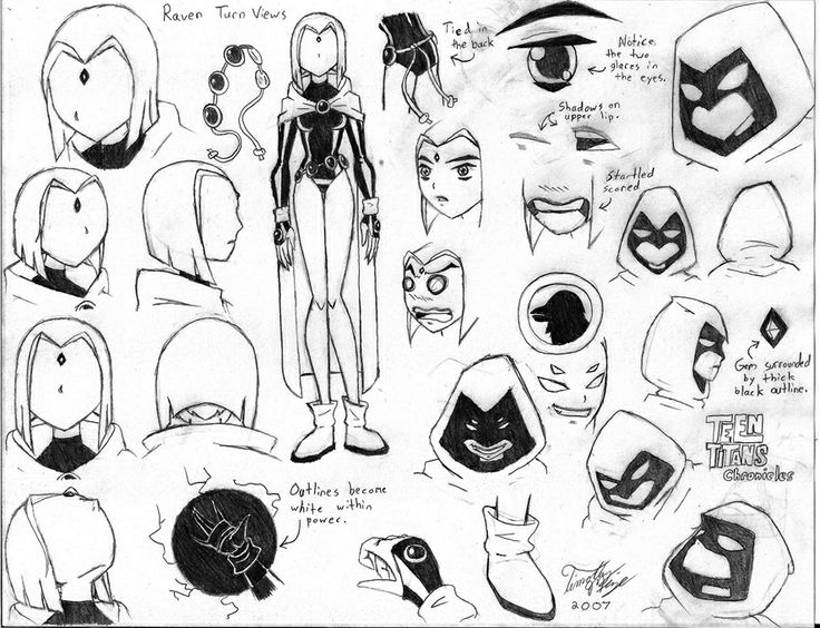 Drawn raven sketch Teen titans Raven Pinterest titans