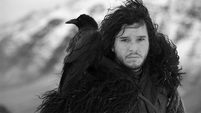 Drawn raven snow Game Noir Ravens jonsnow Thrones