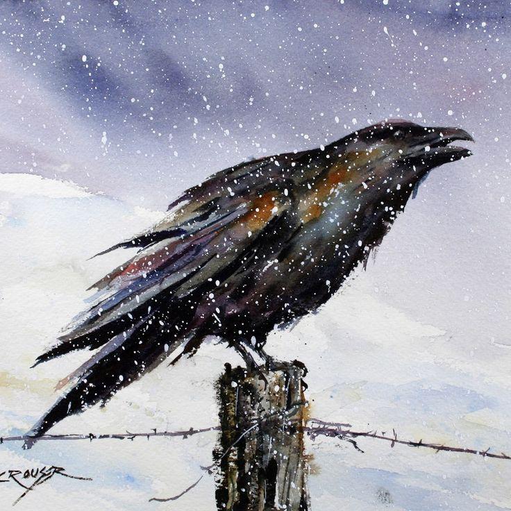 Drawn raven snow Images best art Dean RAVEN
