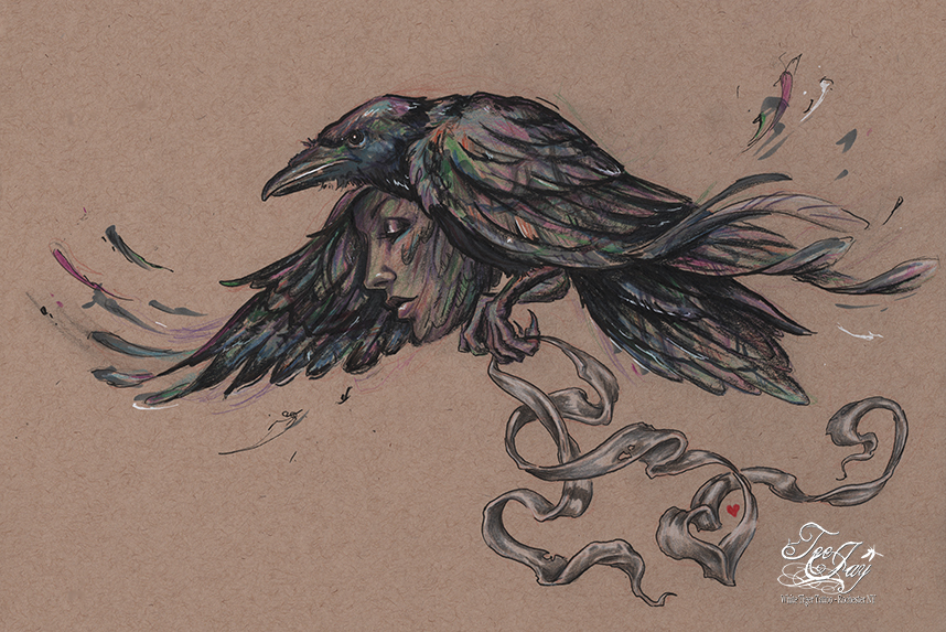 Drawn raven spirit animal In the I didn't after