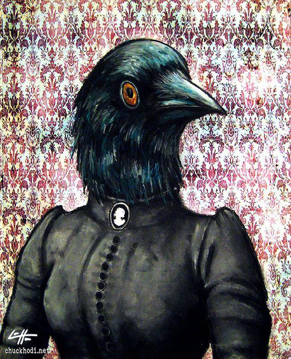Drawn raven spooky By Raven 8x10