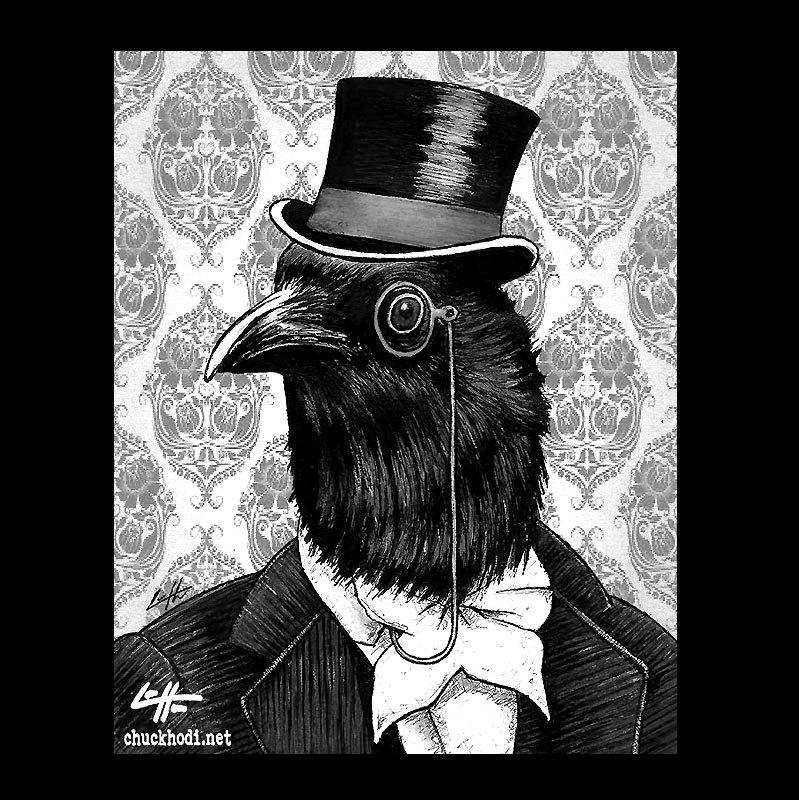 Drawn raven spooky Victorian The this Bird Art