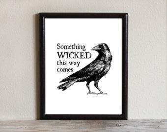Drawn raven spooky Wicked Black Spooky comes Art