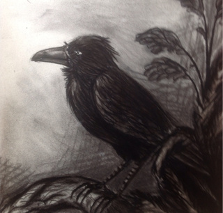 Drawn raven spooky Grip I  by Grip