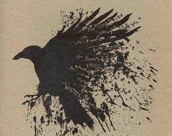 Drawn raven spooky Irish Print print Fiagh of