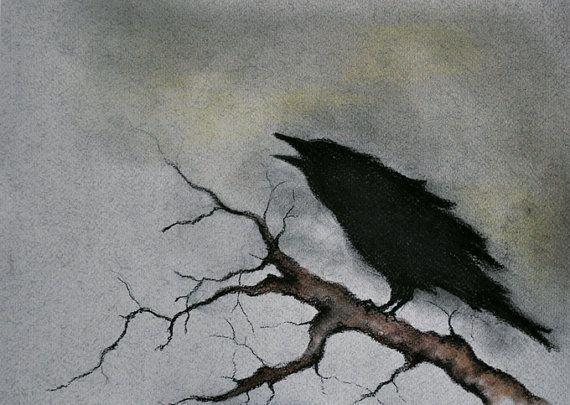 Drawn raven spooky Art Drawing Raven 123 Crow