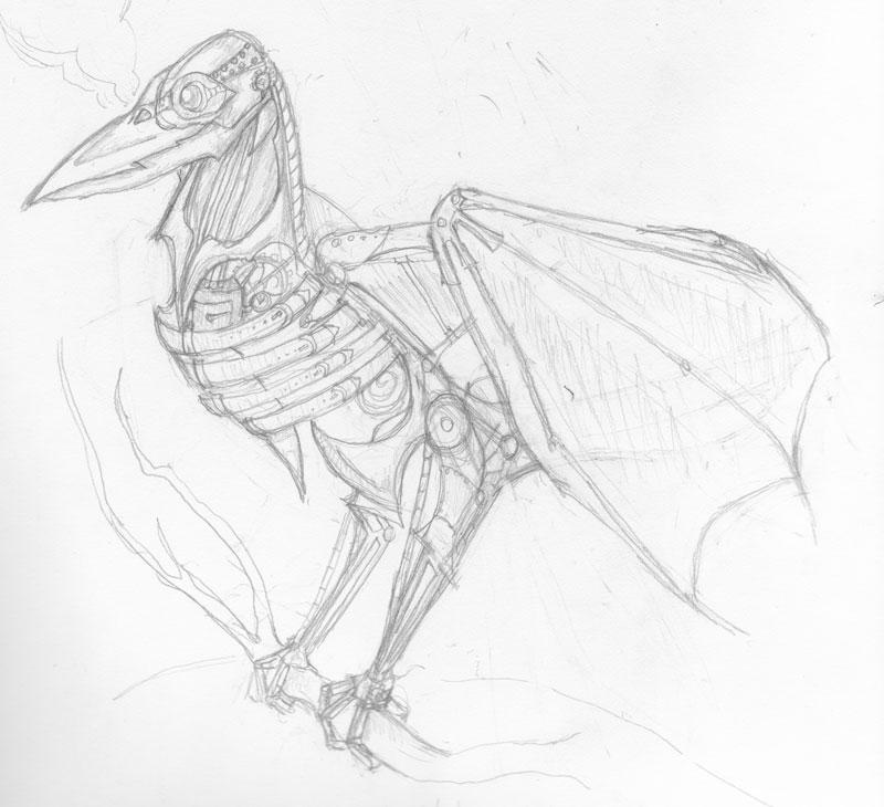 Drawn steampunk raven On by Steampunk Oneirophobic Raven