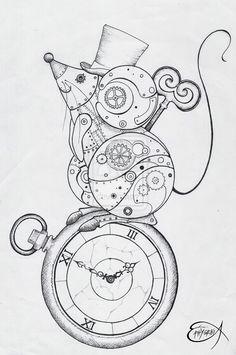 Drawn mouse deviantart @DeviantArt Steampunk EpHyGeNiA jpg WIP